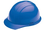 ERB 19366 Americana Hard Hat w/ Mega Ratchet 4-Point nylon suspension, Blue, 12/Case