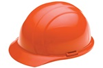 ERB 19363 Americana Hard Hat w/ Mega Ratchet 4-Point nylon suspension, Orange, 12/Case