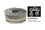 Stuccofast Knurled Framing Pins and EF-90 Washers (for use in ET&F Model 500M)