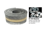 Stuccofast Knurled Framing Pins with ET-90 Washers (for use in ET&F Model 500M)