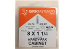 "8 X 1-1/4"" CABINET GRK SCREWS, 12069, (20 IN STOCK)"