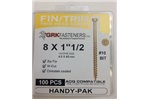 "8 X 1-1/2"" FINISHING TRIM HEAD GRK SCREWS, 17724, (20 IN STOCK)"