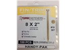 "8 X 2"" FINISHING TRIM HEAD GRK SCREWS, 17728, (20 IN STOCK)"