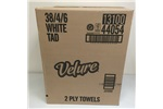 Velure Ultra Kitchen Roll Paper Towels, 2 Ply, White, 48 Sheets/Roll, 30 Rolls/Carton
