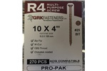 "10 X 4"" R4 MULTI-PURPOSE GRK SCREWS, 01141, (2 IN STOCK)"