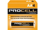 AA Duracell Procell Alkaline Batteries, 4/Pack, PC1500BKD